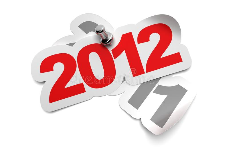 2012 Sticker Stock Photography