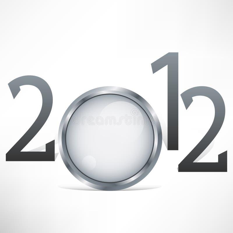 2012 szczęśliwy tło nowy rok ilustracja wektor