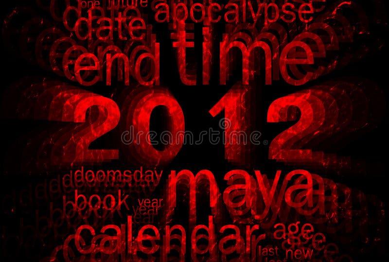 2012 (tema do calendário do maya) ilustração do vetor