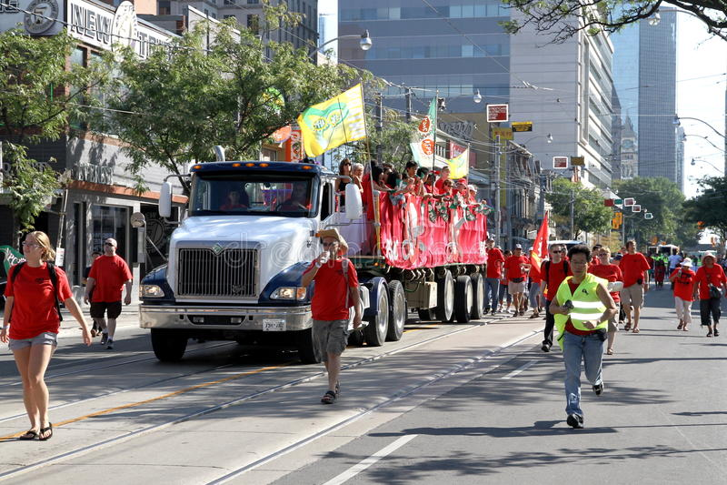 2012 Toronto Labor Day Parade Editorial Stock Image