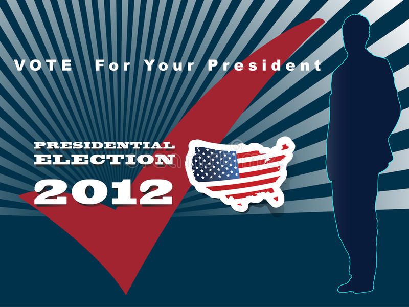 Download 2012 U.S. Presidential Election Poster And Backgro Stock Illustration - Image: 25932261