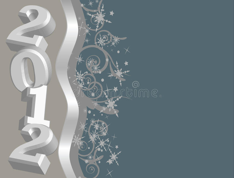 2012 Vector image with copy space! vector illustration