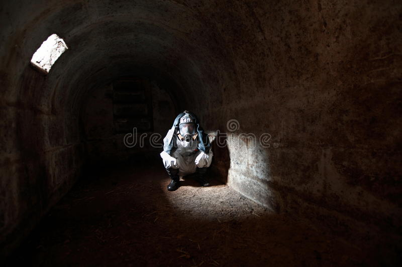 2012 waiting for the end of world in stone bunker royalty free stock image