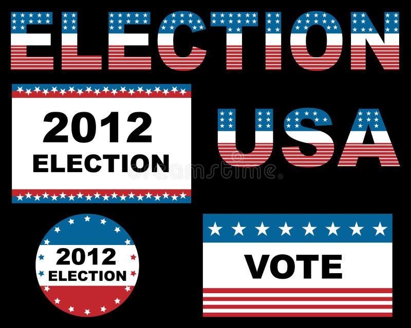 2012 wybory usa royalty ilustracja