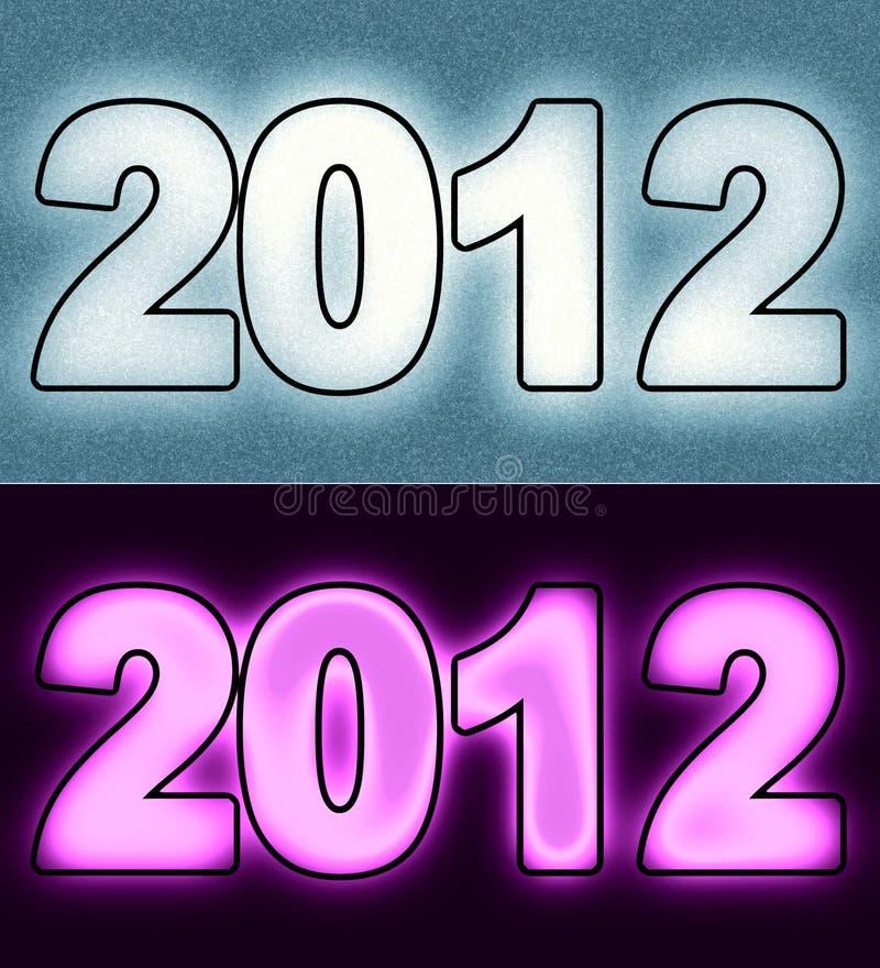 2012 Year royalty free illustration