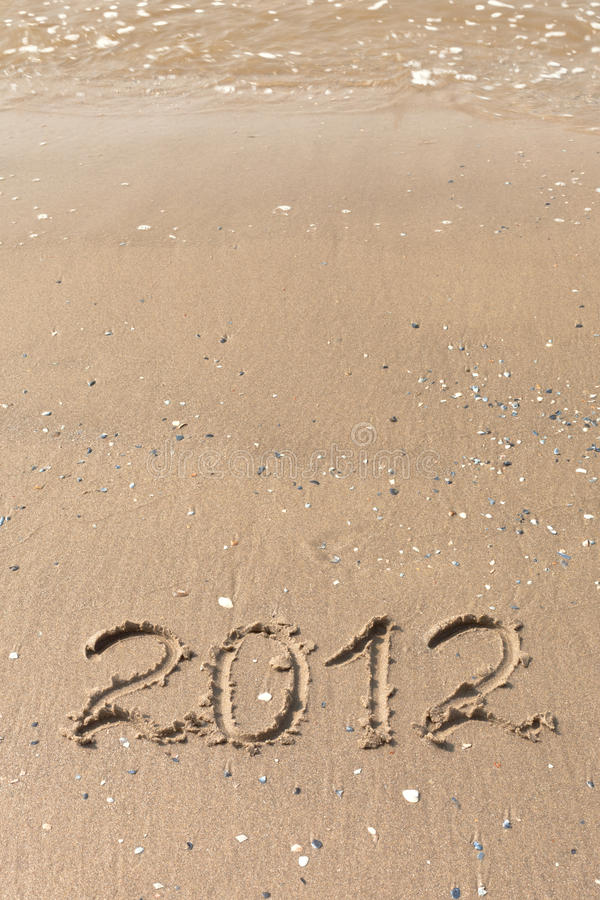 Download 2012 Year Written On The Beach Sand Stock Photo - Image: 21434026