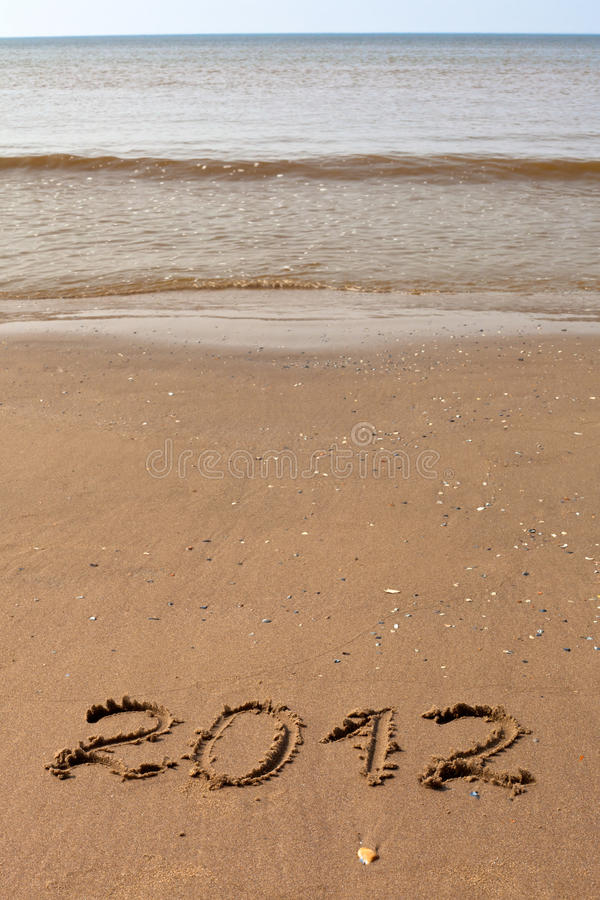 Download 2012 Year Written On The Beach Sand Stock Image - Image: 21539643