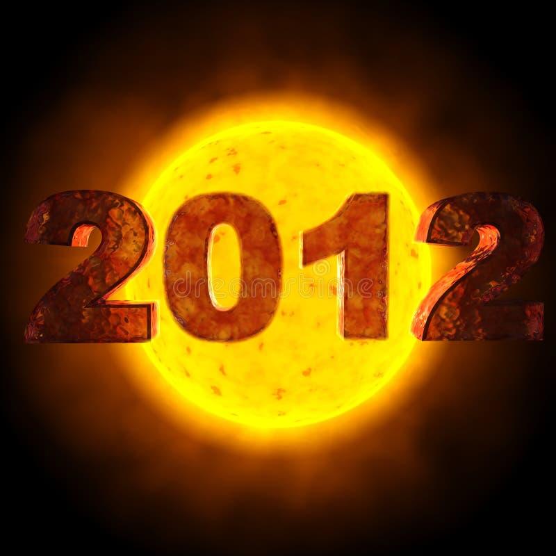 2012 Zon stock illustratie