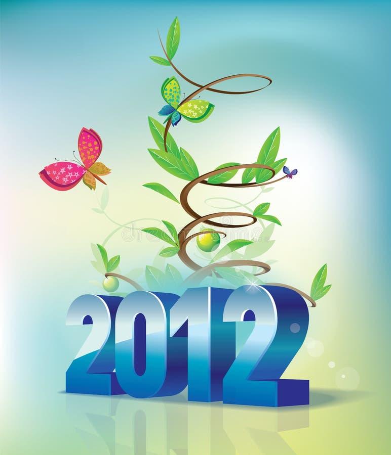 2012andGreen ilustración del vector