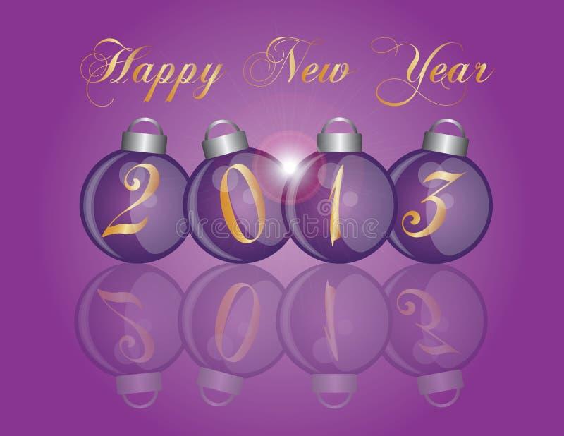 2013件新年度紫色装饰品 向量例证