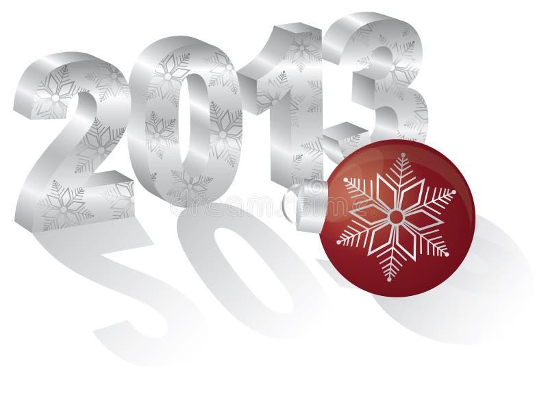 2013新年度3尺寸数字装饰品 向量例证