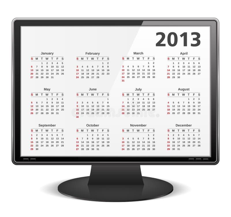 2013 ημερολόγιο ελεύθερη απεικόνιση δικαιώματος