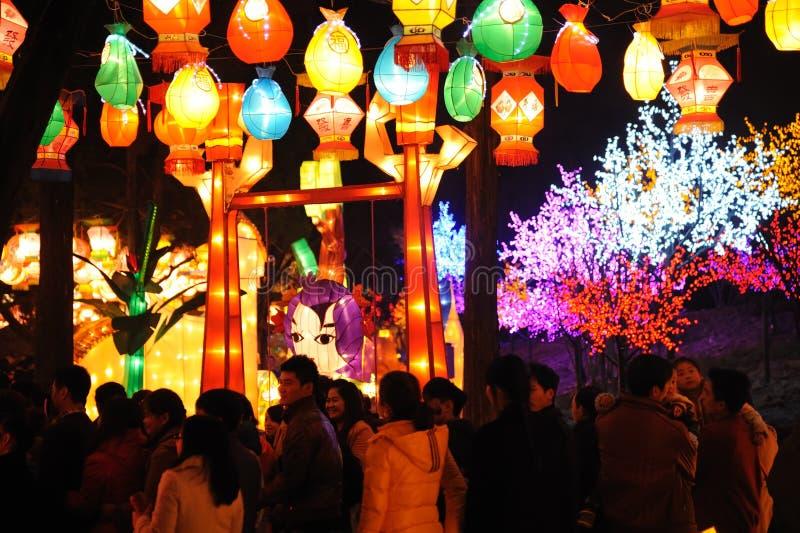 2013 κινεζικό φεστιβάλ φαναριών σε Chengdu στοκ φωτογραφία με δικαίωμα ελεύθερης χρήσης