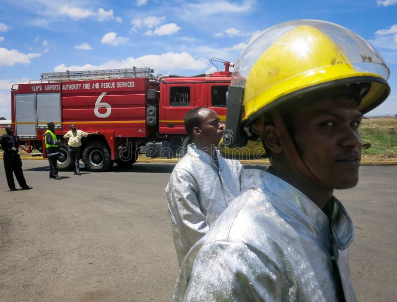 2013_10_04_Somali_ Firefighter_Training_Nairobi_001 royalty free stock photography