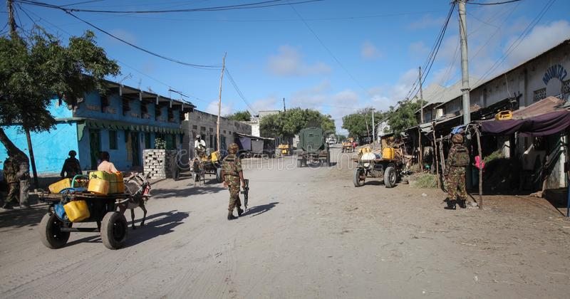 2013_10_20_AMISOM_KDF_Kismayo_Town_001 fotografering för bildbyråer