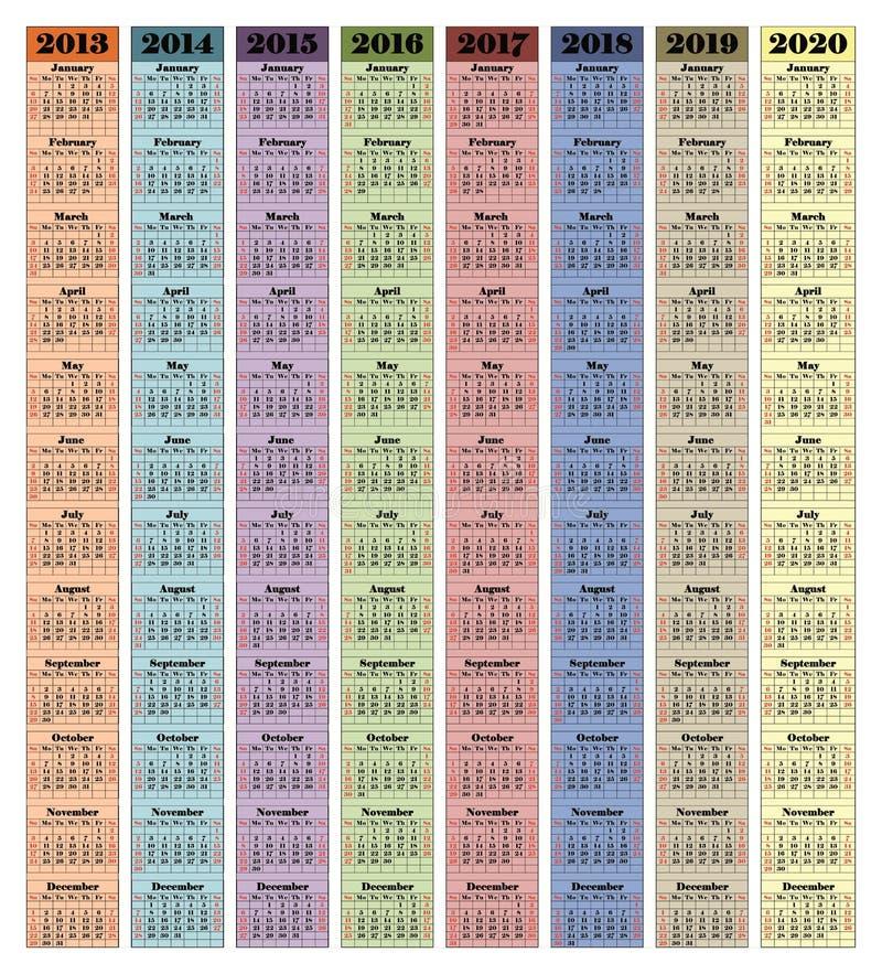 2013-2020 Fotografia de Stock