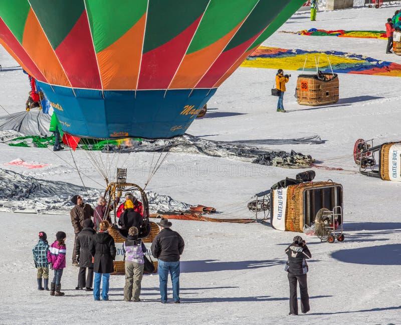 2013 35th Hot Air Balloon Festival, Switzerland Editorial Photography