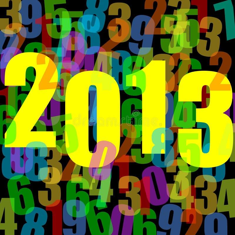 2013 anos novos de ilustração ilustração stock