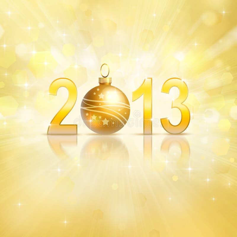 2013 ans neuf illustration stock