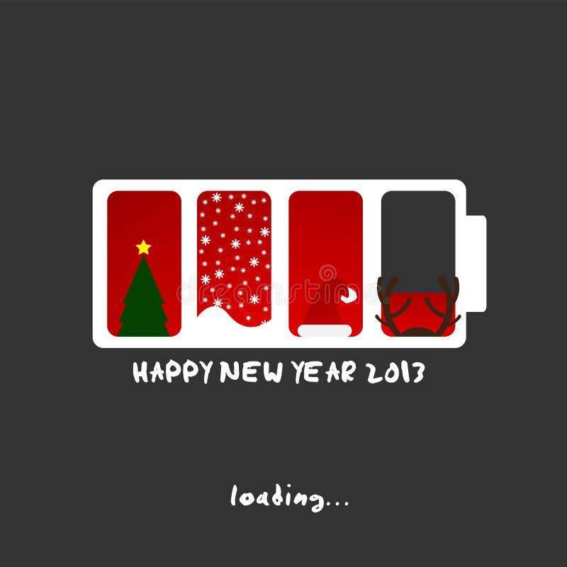 2013 ans neufs, conception de Joyeux Noël illustration libre de droits