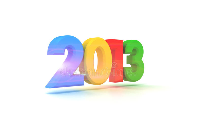2013 ans neufs heureux illustration de vecteur