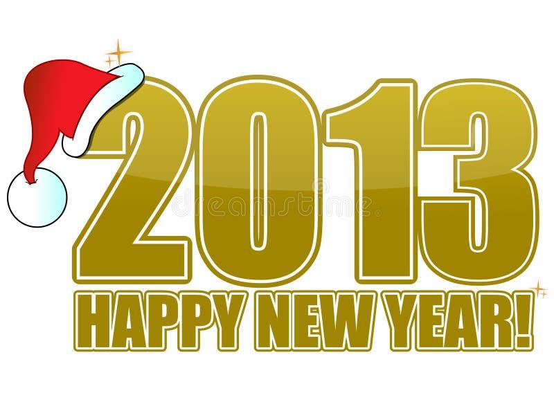 2013 ans neufs heureux de d'or illustration de vecteur