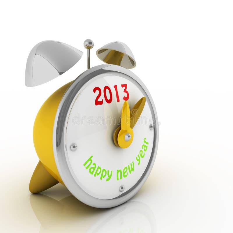 2013 ans sur l'horloge d'alarme photos stock