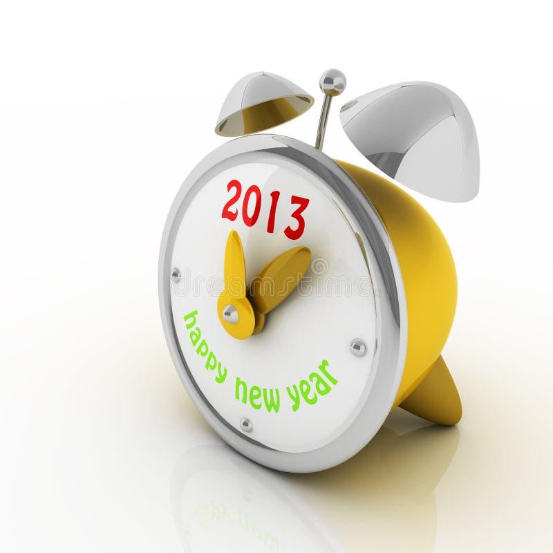 2013 ans sur l'horloge d'alarme images stock