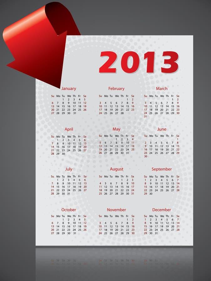 Download 2013 Calendar Design With Bending Arrow Stock Vector - Image: 27330923