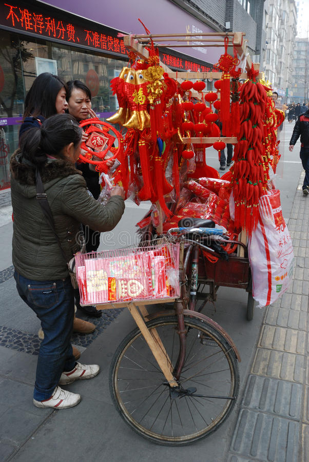 Download 2013 Chinese New Year Market In Chengdu Editorial Photography - Image: 29050912