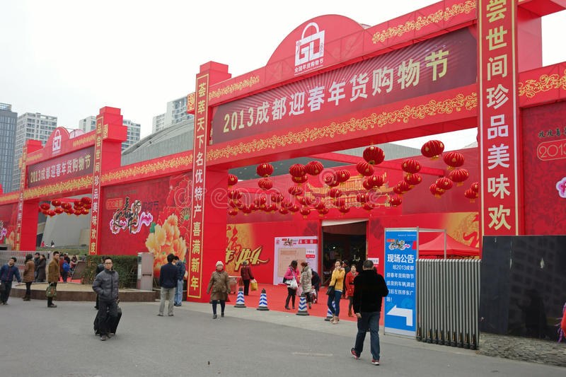 2013 Chinese New Year Shopping In Chengdu Editorial Stock Image