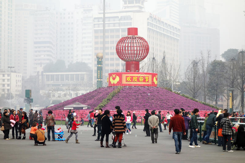 2013 Chinese Spring Festival In Chengdu Editorial Stock Photo