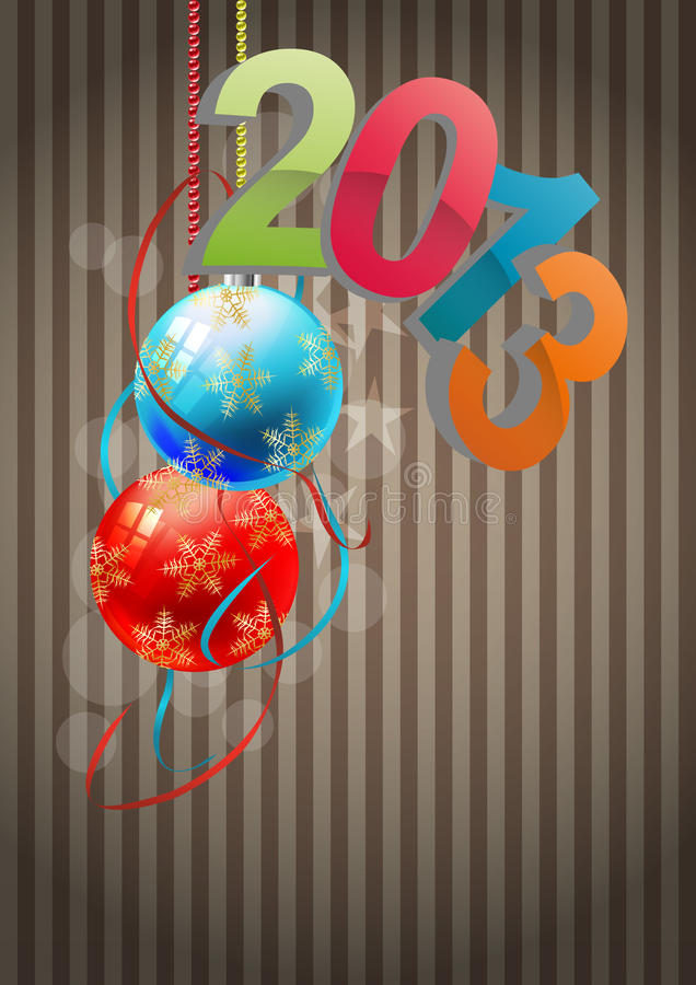 Download 2013 christmas balls stock vector. Image of concept, party - 27680919