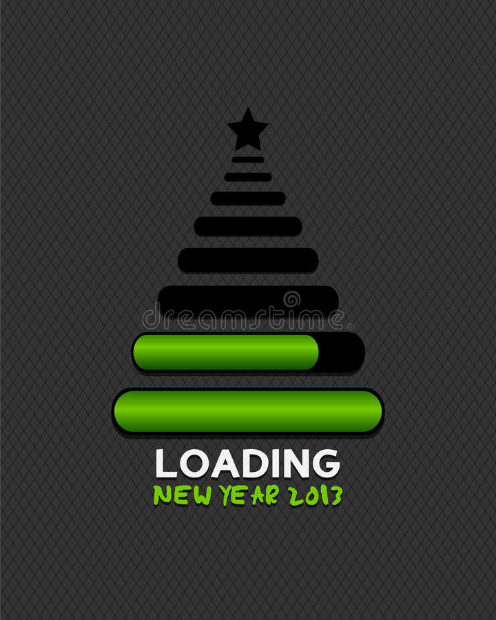 2013 christmas tree made from internet loading bar. S abstract background stock illustration