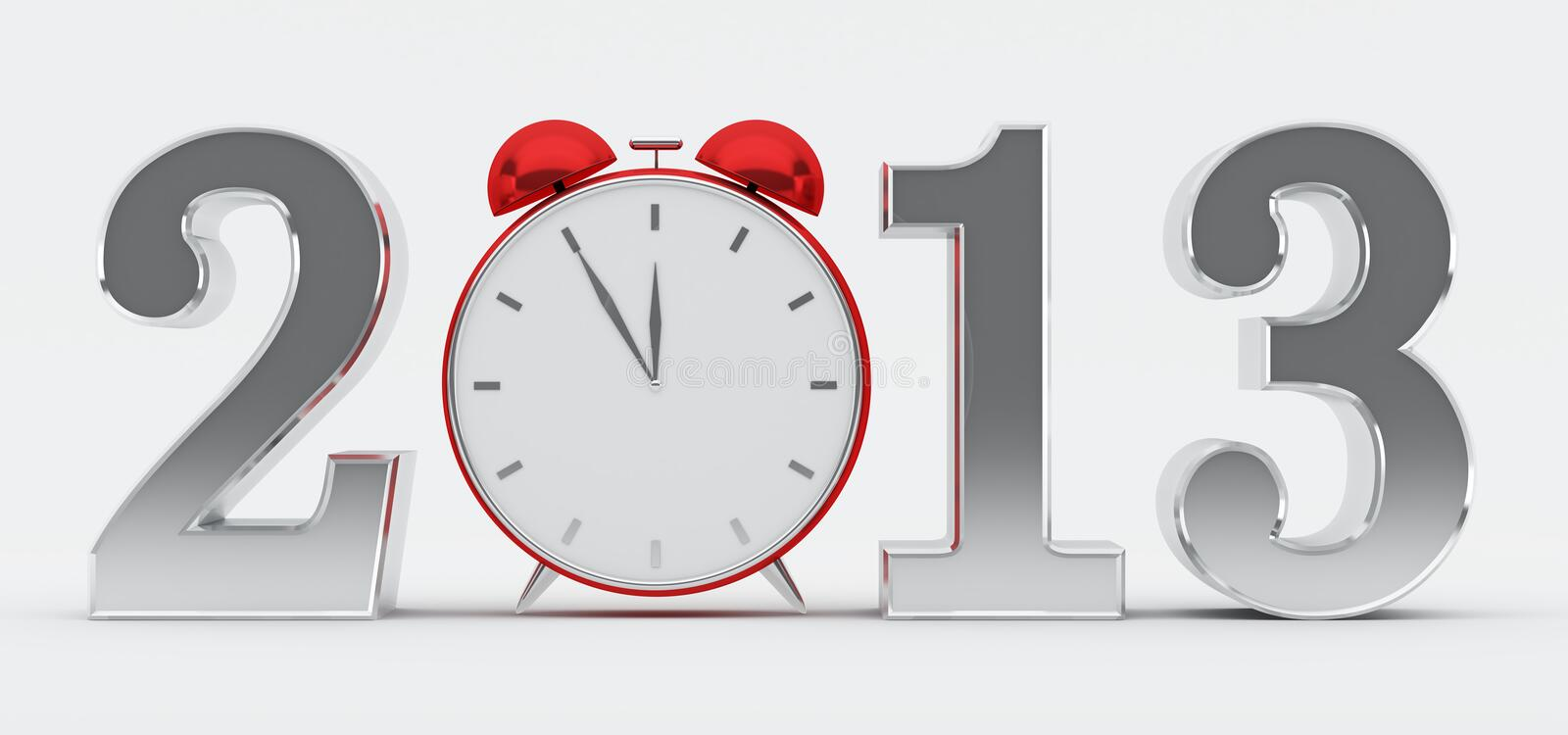 Download 2013 Concept With Red Clock Stock Illustration - Illustration of digit, beginning: 27648588