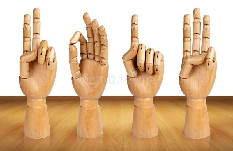 2013 dans le poston de la main en bois images libres de droits