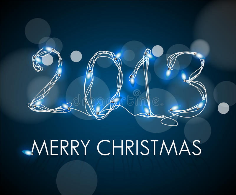 Download 2013 From Digital Electronic Blue Lights Stock Illustration - Illustration: 27031255