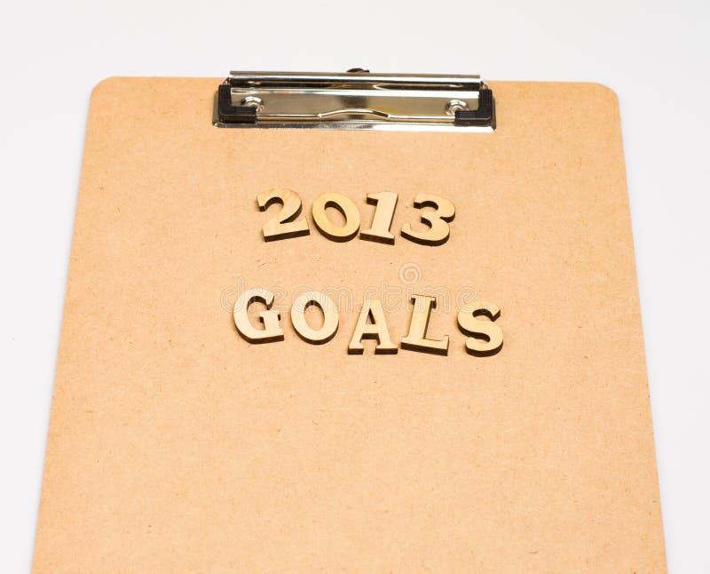 Download 2013 doelstellingen stock afbeelding. Afbeelding bestaande uit aankondigingen - 29512851