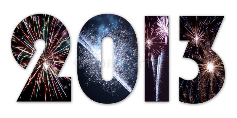 2013 fuegos artificiales ilustración del vector