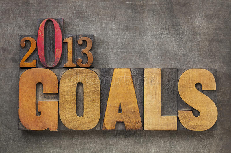 2013 goals royalty free stock image