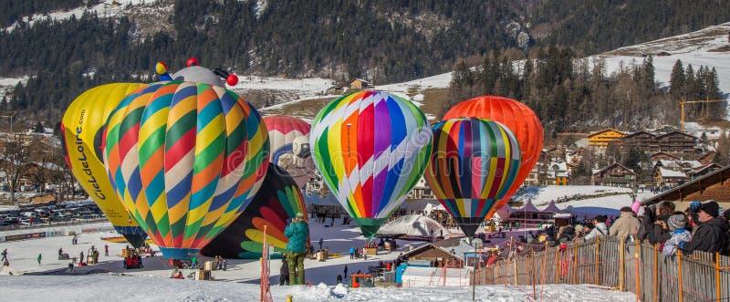 2013 gorące powietrze balonu festiwal, Szwajcaria obraz stock