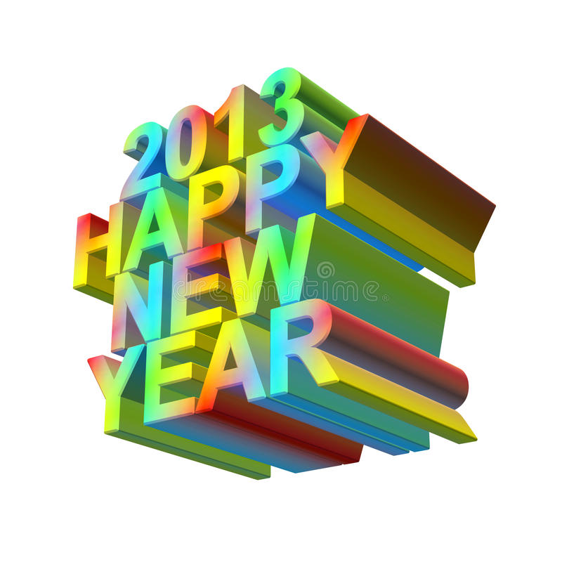 2013 happy new year stock illustration