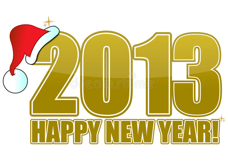 2013 happy new year golden vector illustration