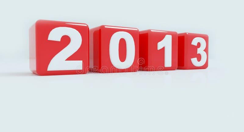 Download 2013 im roten Würfel stock abbildung. Illustration von kalender - 27733707