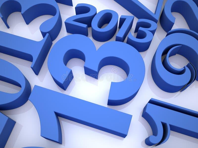 2013 jaar stock illustratie