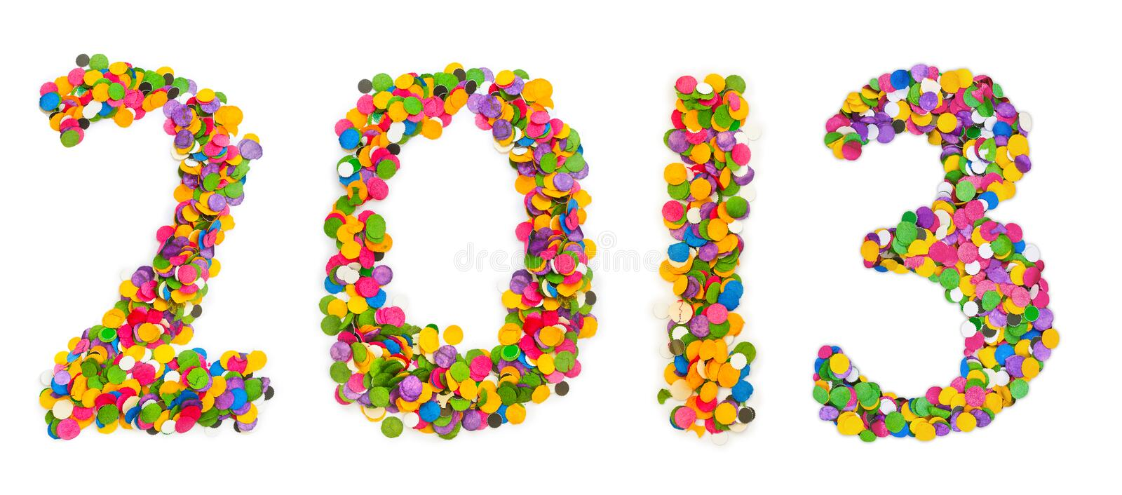 Download 2013 made of confetti stock photo. Image of 2013, isolated - 27397940