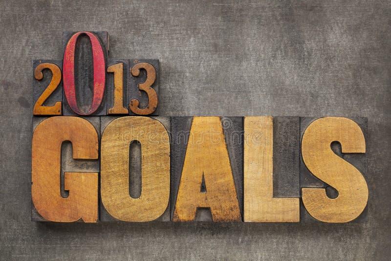 2013 metas imagen de archivo libre de regalías