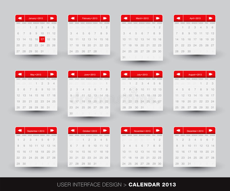2013 monthly Calendar design for mobile phone