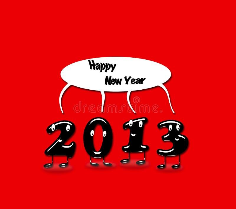 2013, an neuf heureux. illustration libre de droits