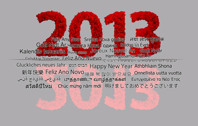 Download 2013 New Year stock illustration. Image of number, january - 23879619